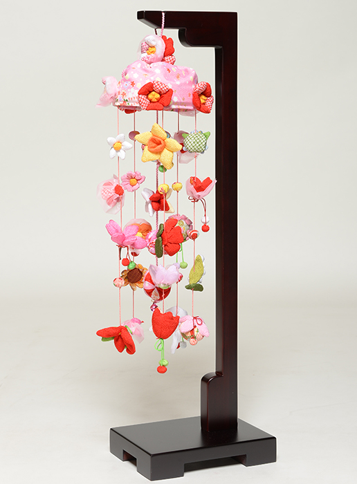 【ひな人形】つるし雛 チリメン傘付季節の花つるし飾り 小【吊るし雛】