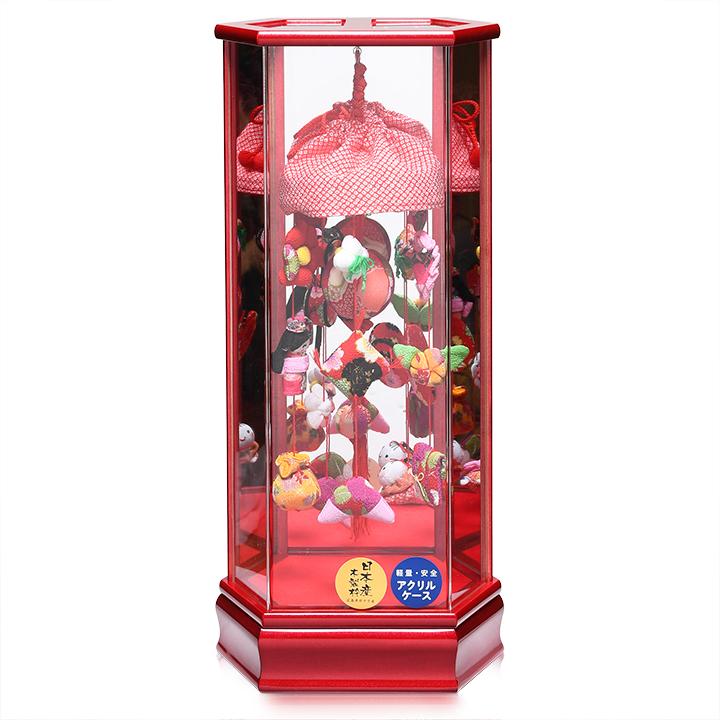 【つるし飾】【つるしケース飾】童の吊るし六角鏡バックケース飾【吊るし雛】【雛人形】