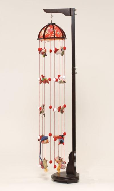 【つるし飾】【ひな人形】 つるし雛祇園つるし雛(小):縮緬灯り傘:スタンド付【吊るし雛】【雛人形】