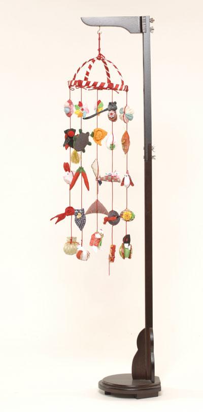 【つるし飾】【ひな人形】つるし雛 つるし雛輪飾:スタンド付【吊るし雛】【雛人形】