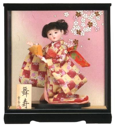 【わらべ人形】浮世・御所 9号 舞寿 ピンク【ひな人形】【浮世人形】
