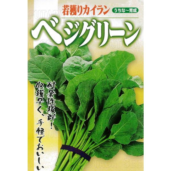 葉野菜(若獲りカイラン) 種 【ベジグリーン 1リットル】※2袋以上御購入で宅配便(送料¥1000)