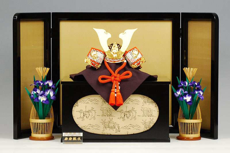 【京甲冑】8号 白糸縅兎之御兜-鳥獣戯画- 平安武久作 -人形のフタバ【送料・代引手数料サービス】