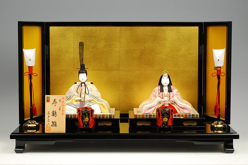【木目込み雛】寿鶴雛 真多呂作-人形のフタバ【送料・代引手数料サービス】