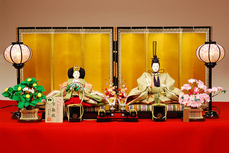 【京雛】唐草鳳凰文之御束帯 平安寿峰作-人形のフタバ【送料・代引手数料サービス】
