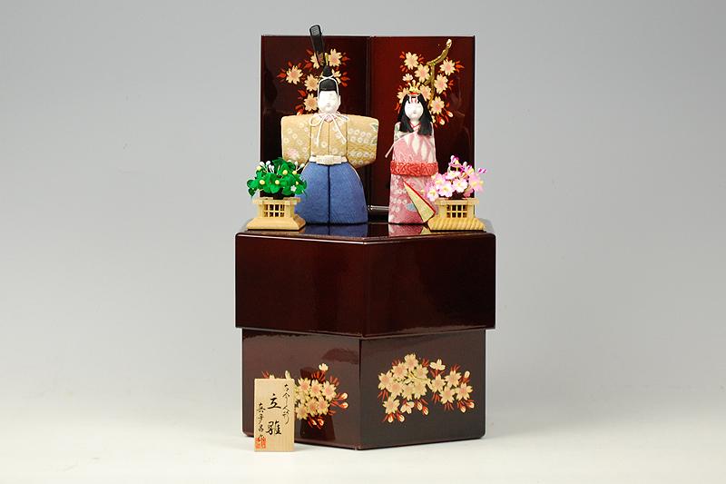 【木目込み雛】室町立雛 真多呂作-人形のフタバ【送料・代引手数料サービス】