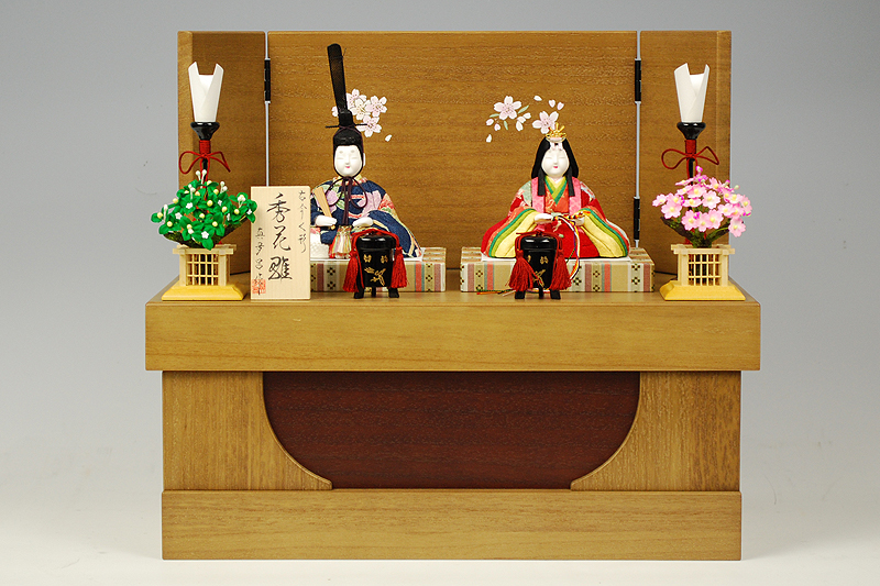 【木目込み雛】秀花雛 真多呂作-人形のフタバ【送料・代引手数料サービス】