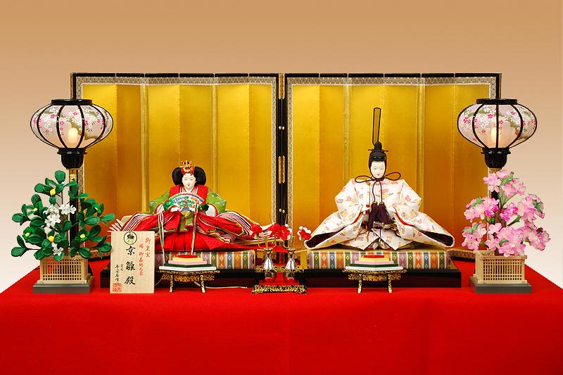 【京雛】鶴菱文之御束帯 平安寿峰作-人形のフタバ【送料・代引手数料サービス】