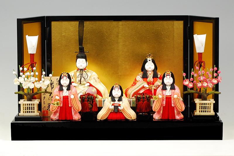 【木目込み雛】瑞花雛官女付 真多呂作-人形のフタバ【送料・代引手数料サービス】