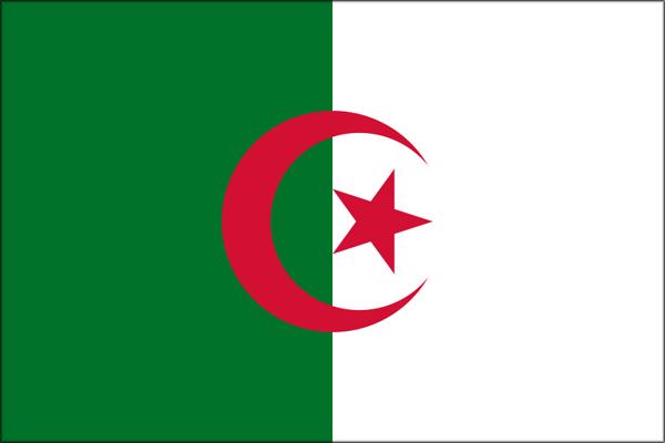 【外国旗】アルジェリア民主人民共和国国旗(アクリル) サイズ:90×135cm【領収書発行】