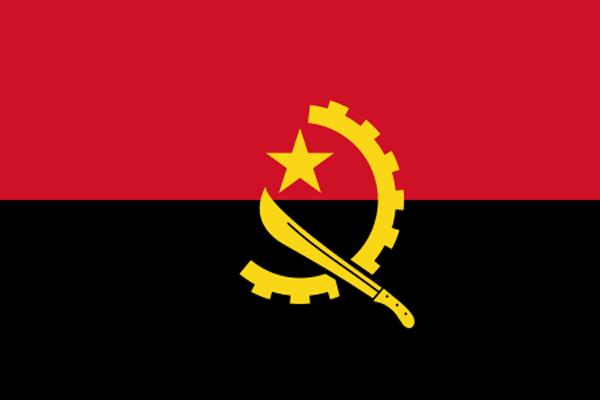 【外国旗】アンゴラ共和国国旗(テトロントロピカル) サイズ:90×135cm【領収書発行】
