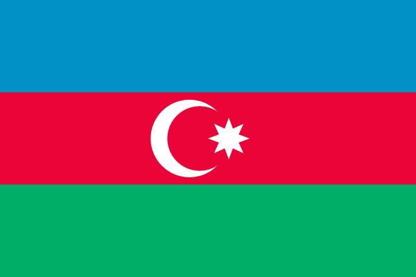 【外国旗】アゼルバイジャン国旗(アクリル) サイズ:90×135cm【領収書発行】