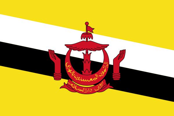 【外国旗】ブルネイ国旗(アクリル) サイズ:90×135cm【領収書発行】