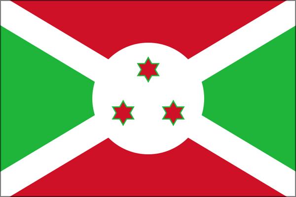 【外国旗】ブルンジ共和国国旗(アクリル) サイズ:90×135cm【領収書発行】