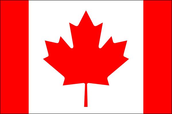 【外国旗】カナダ国旗(アクリル) サイズ:90×135cm【領収書発行】