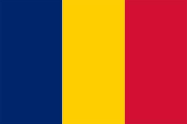 【外国旗】チャド共和国国旗(アクリル) サイズ:90×135cm【領収書発行】