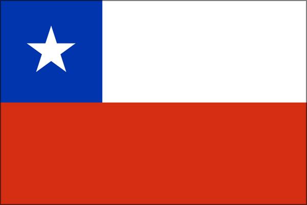 【外国旗】チリ共和国国旗(テトロントロピカル) サイズ:90×135cm【領収書発行】