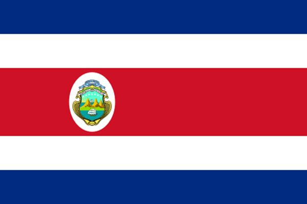 【外国旗】コスタリカ共和国国旗(アクリル) サイズ:90×135cm【領収書発行】