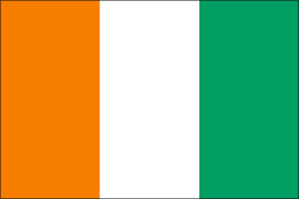 【外国旗】コートジボワール共和国国旗(アクリル) サイズ:90×135cm【領収書発行】