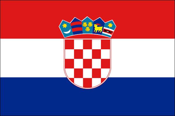 【外国旗】クロアチア共和国国旗(アクリル) サイズ:90×135cm【領収書発行】