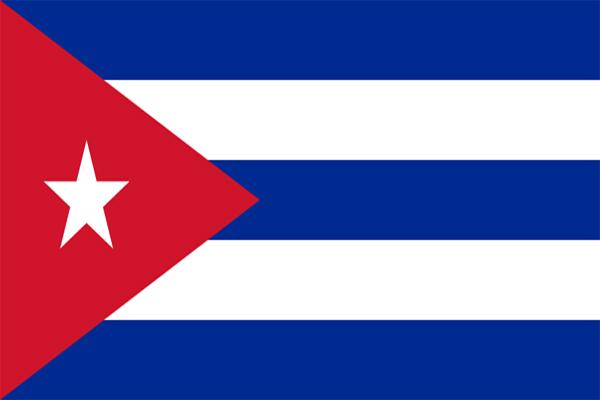 【外国旗】キューバ共和国国旗(アクリル) サイズ:90×135cm【領収書発行】