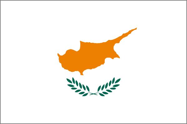 【外国旗】キプロス国旗(アクリル) サイズ:90×135cm【領収書発行】