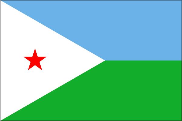 【外国旗】ジブチ共和国国旗(アクリル) サイズ:90×135cm【領収書発行】