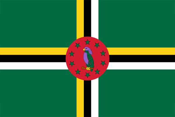 【外国旗】ドミニカ国国旗(アクリル) サイズ:90×135cm【領収書発行】