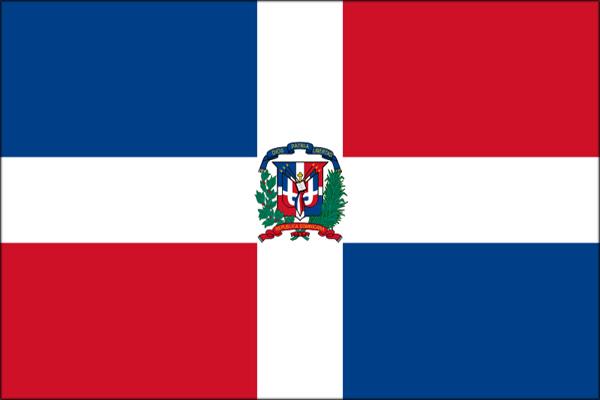【外国旗】ドミニカ共和国国旗(テトロントロピカル) サイズ:90×135cm【領収書発行】