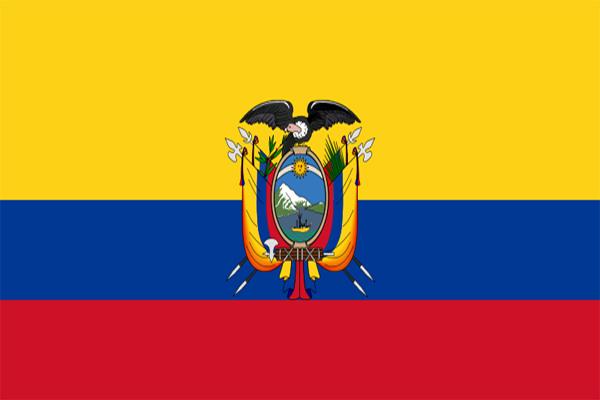 【外国旗】エクアドル国旗(テトロントロピカル) サイズ:70×105cm【領収書発行】