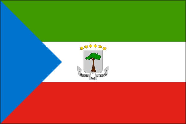 【外国旗】赤道ギニア共和国国旗(アクリル) サイズ:90×135cm【領収書発行】