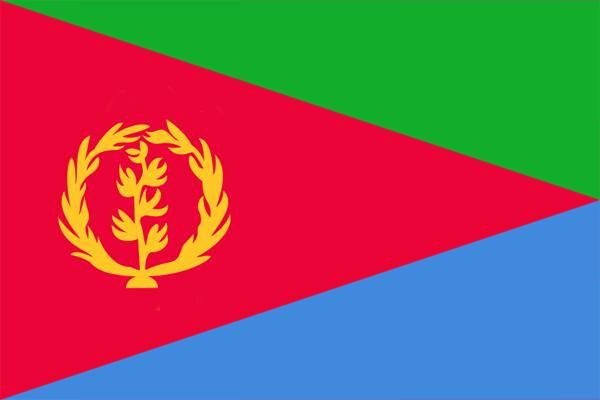 【外国旗】エリトリア国国旗(アクリル) サイズ:90×135cm【領収書発行】
