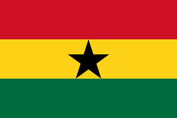 【外国旗】ガーナ共和国国旗(アクリル) サイズ:90×135cm【領収書発行】
