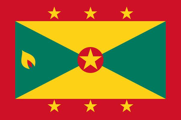 【外国旗】グレナダ国旗(アクリル) サイズ:90×135cm【領収書発行】