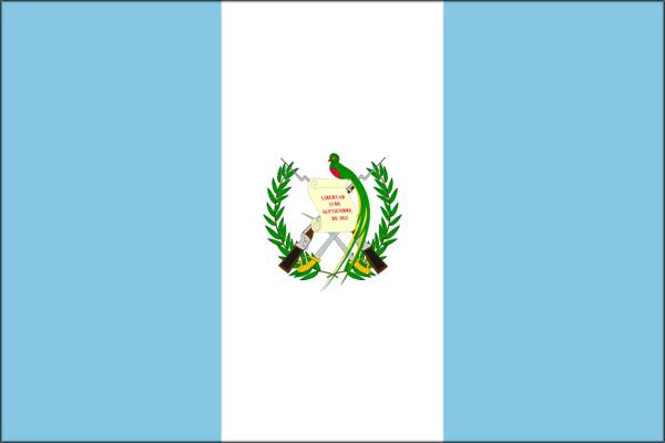 【外国旗】グアテマラ共和国国旗(アクリル) サイズ:90×135cm【領収書発行】