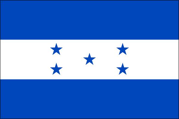 【外国旗】ホンジュラス共和国国旗(アクリル) サイズ:90×135cm【領収書発行】