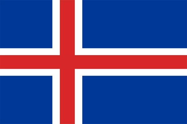 【外国旗】アイスランド国旗(綿) サイズ:90×135cm【領収書発行】