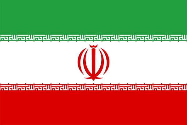 【外国旗】イラン国旗(アクリル) サイズ:90×135cm【領収書発行】