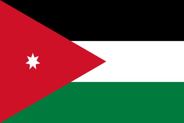 【外国旗】ヨルダン王国国旗(アクリル) サイズ:90×135cm【領収書発行】, 北川辺町:9d8171c8 --- mail.ciencianet.com.ar