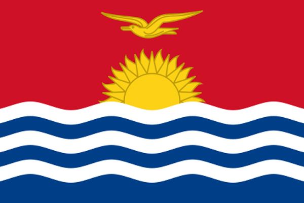 【外国旗】キリバス共和国国旗(アクリル) サイズ:90×135cm【領収書発行】