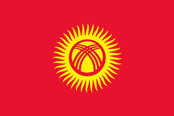 【外国旗】キルギス共和国国旗(テトロントロピカル) サイズ:90×135cm【領収書発行】