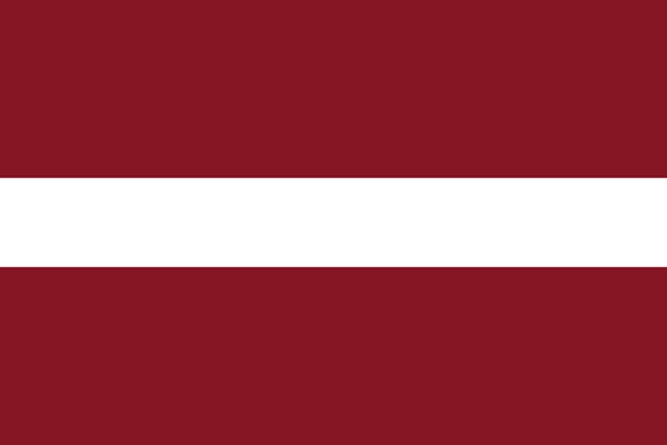 【外国旗】ラトビア国旗(アクリル) サイズ:90×135cm【領収書発行】