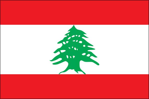 【外国旗】レバノン共和国国旗(アクリル) サイズ:90×135cm【領収書発行】