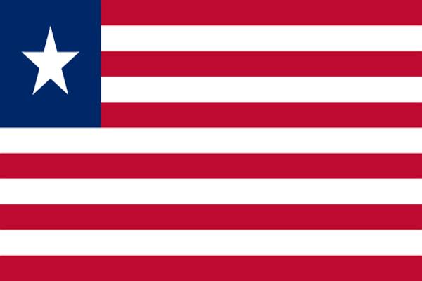 【外国旗】リベリア共和国国旗(アクリル) サイズ:90×135cm【領収書発行】
