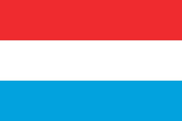【外国旗】ルクセンブルク国旗(アクリル) サイズ:90×135cm【領収書発行】
