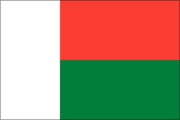 【外国旗】マダガスカル共和国国旗(テトロントロピカル) サイズ:90×135cm【領収書発行】