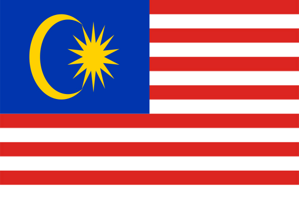 【外国旗】マレーシア国旗(アクリル) サイズ:90×135cm【領収書発行】