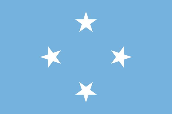 【外国旗】ミクロネシア連邦国旗(アクリル) サイズ:90×135cm【領収書発行】