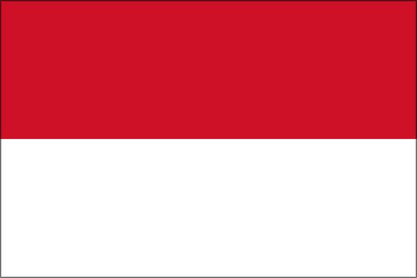 【外国旗】モナコ国旗(アクリル) サイズ:90×135cm【領収書発行】