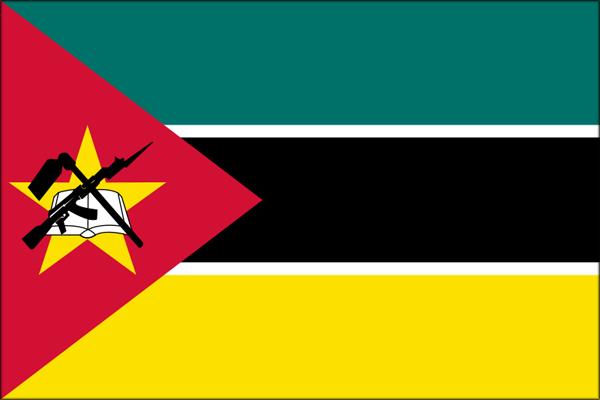 【外国旗】モザンビーク共和国国旗(アクリル) サイズ:90×135cm【領収書発行】